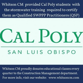 WhitsonCM at Cal Poly San Luis Obispo