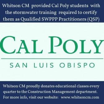 Whitson CM at Cal Poly, San Luis Obispo